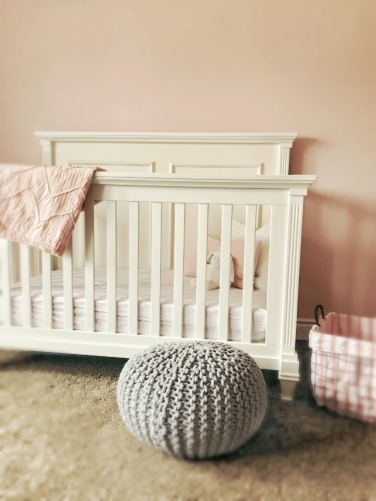 This crib transforms from crib to full bed when the baby has grown